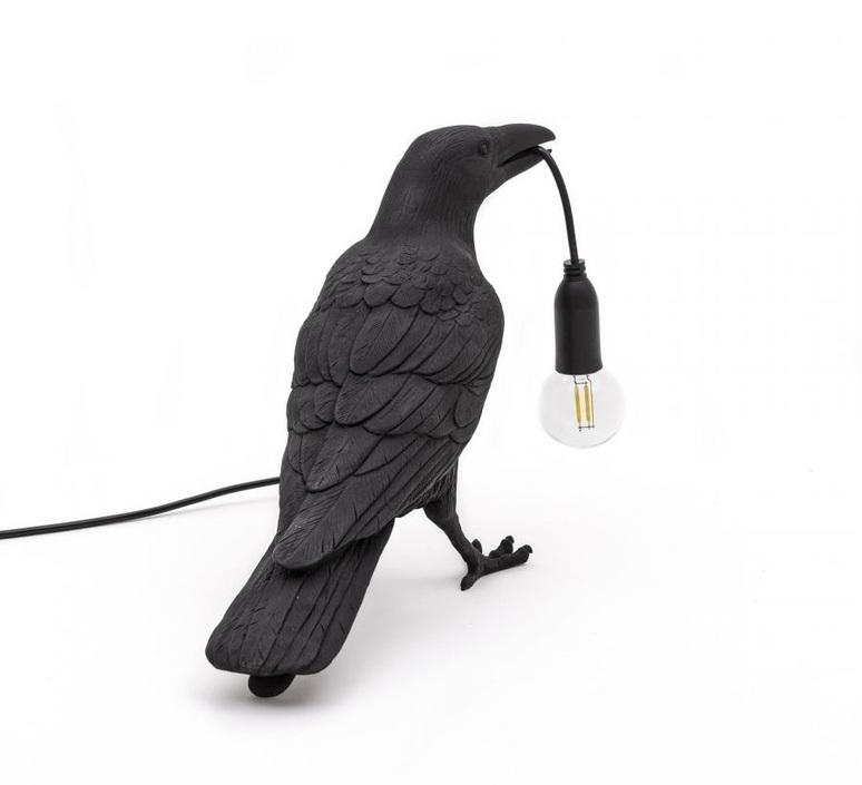 Bird corbeau waiting marcantonio raimondi malerba lampe a poser table lamp  seletti 14735  design signed nedgis 97118 product