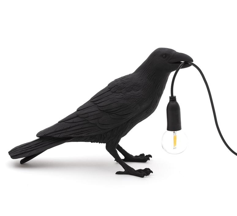 Bird corbeau waiting marcantonio raimondi malerba lampe a poser table lamp  seletti 14735  design signed nedgis 97119 product