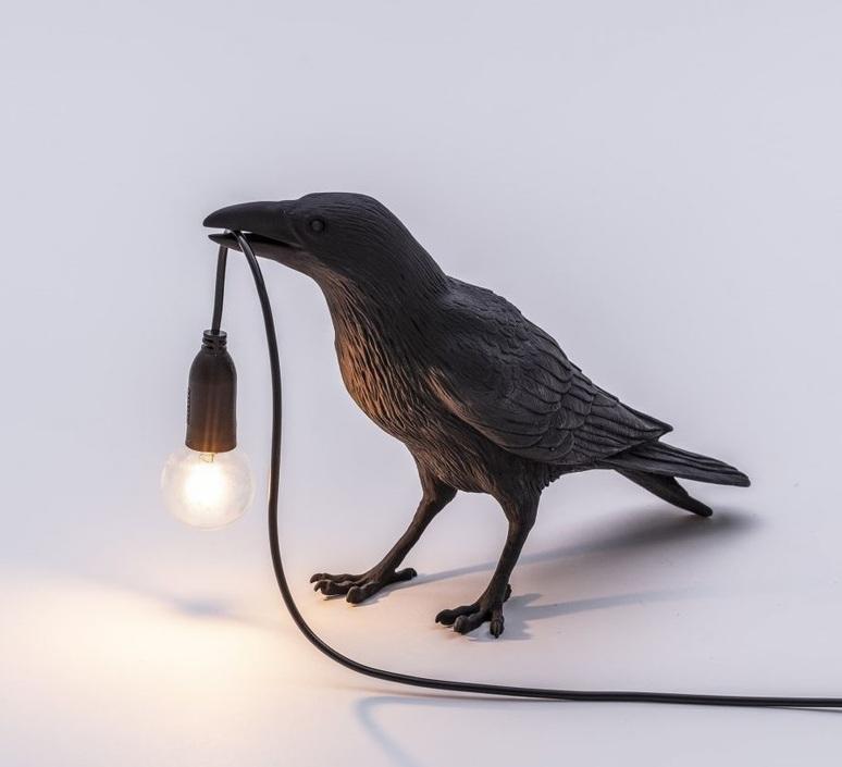 Bird corbeau waiting marcantonio raimondi malerba lampe a poser table lamp  seletti 14735  design signed nedgis 97121 product