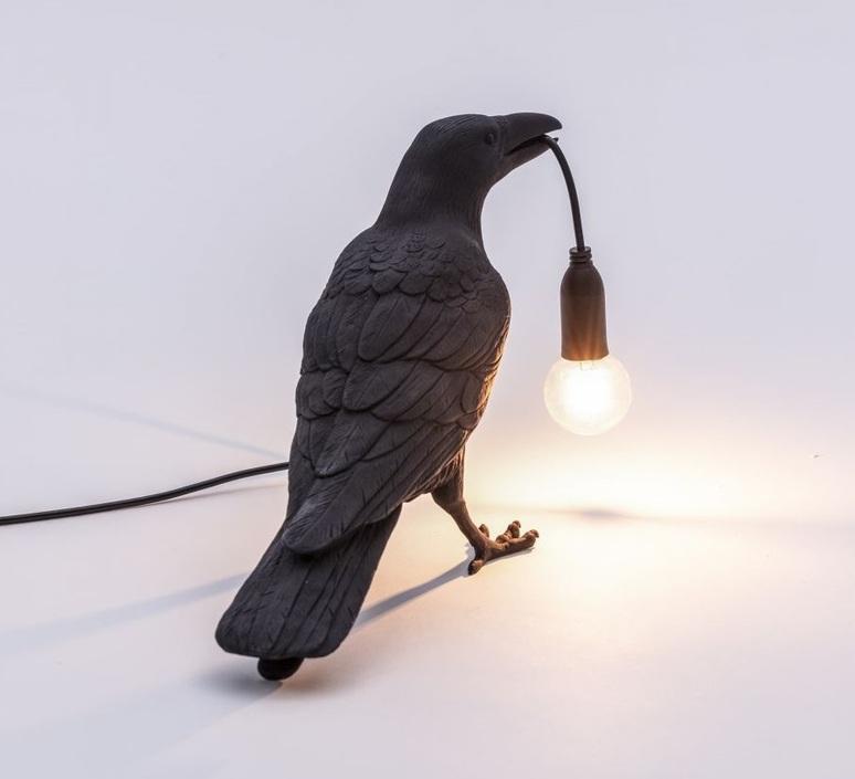 Bird corbeau waiting marcantonio raimondi malerba lampe a poser table lamp  seletti 14735  design signed nedgis 97122 product