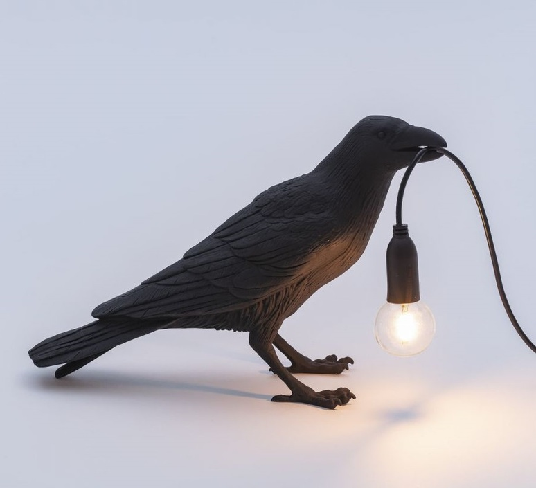 Bird corbeau waiting marcantonio raimondi malerba lampe a poser table lamp  seletti 14735  design signed nedgis 97123 product