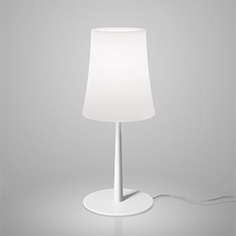 Lampe a poser birdie easy blanc et blanc o17cm h43cm foscarini normal