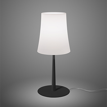 Lampe a poser birdie easy blanc et noir o17cm h43cm foscarini normal