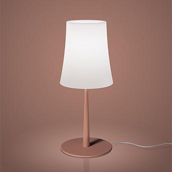 Lampe a poser birdie easy blanc et rouge brique o17cm h43cm foscarini normal