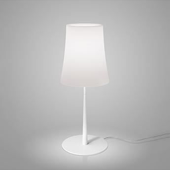 Lampe a poser birdie easy grande blanc et blanc o25cm h62cm foscarini normal