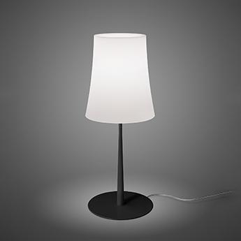 Lampe a poser birdie easy grande blanc et noir o25cm h62cm foscarini normal