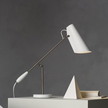 Lampe a poser birdy blanc metal h43cm northern lighting normal