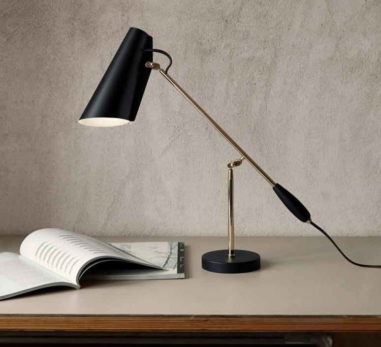 Birdy birger dahl northern lighting birdy table black brass luminaire lighting design signed 18602 product