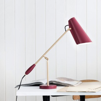 Lampe a poser birdy rouge brass h43cm northern lighting normal