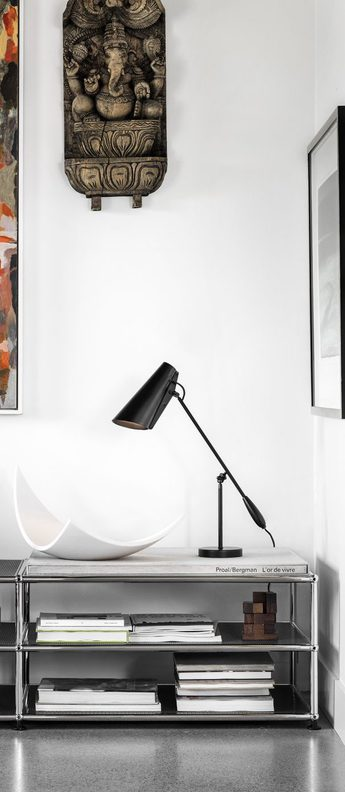 Lampe a poser birdy table noir led l60cm h43cm northern lighting normal