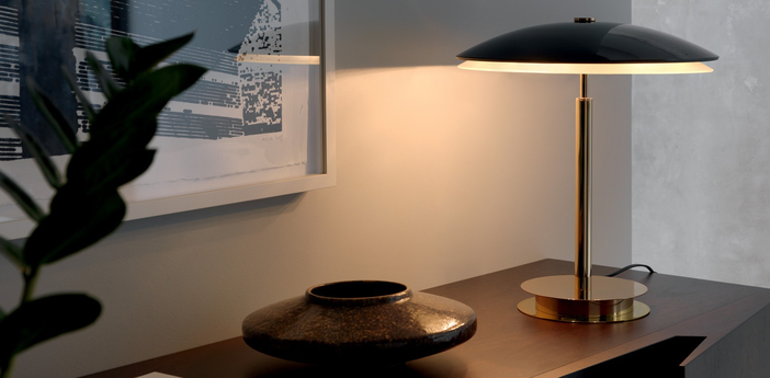 Lampe a poser bis noir brillant h43cm fontana arte normal