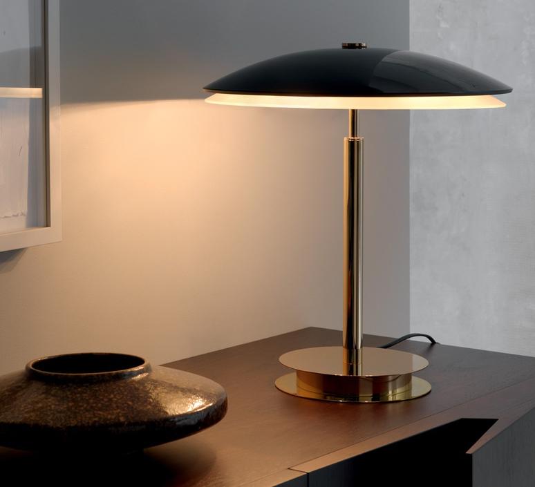 lampe poser bis noir brillant h43cm fontana arte luminaires nedgis. Black Bedroom Furniture Sets. Home Design Ideas