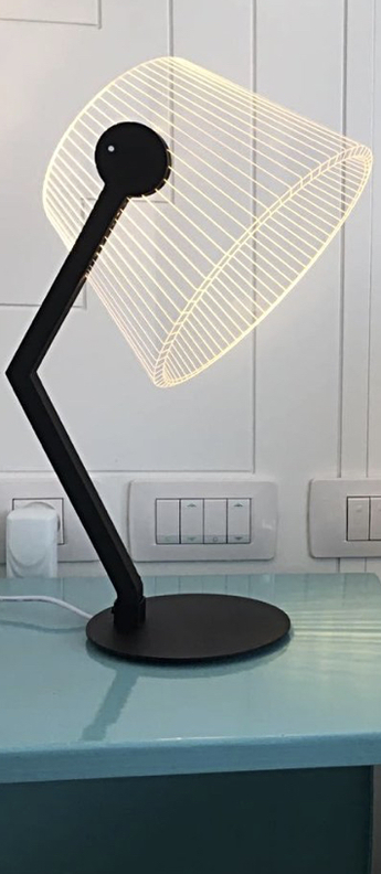 Lampe a poser black ziggi noir l22cm h42cm studio cheha normal