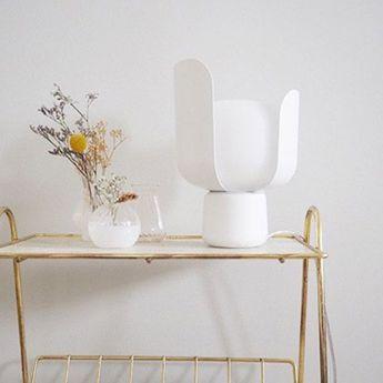 Lampe a poser blom blanc o15cm h24cm fontana arte normal