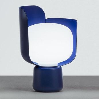 Lampe a poser blom bleu o15cm h24cm fontana arte normal