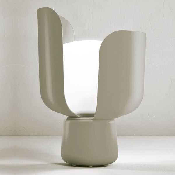 lampe poser blom gris h24cm fontanaarte luminaires nedgis. Black Bedroom Furniture Sets. Home Design Ideas