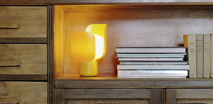 Lampe a poser blom jaune h24cm fontanaarte normal