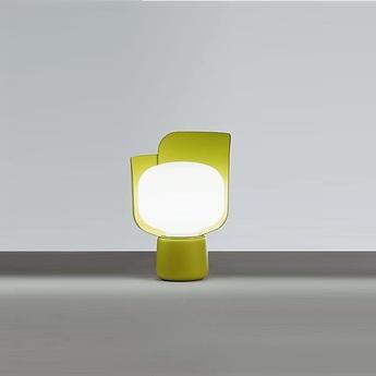 Lampe a poser blom jaune o15cm h24cm fontana arte normal