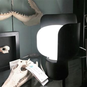 Lampe a poser blom noir h24cm fontanaarte normal