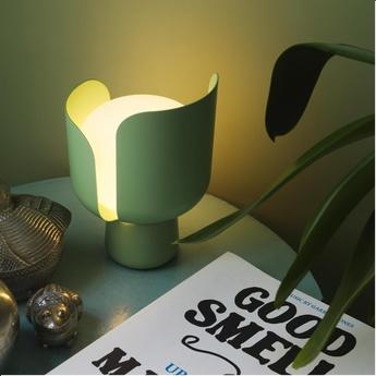 Lampe a poser blom vert h24cm fontanaarte normal