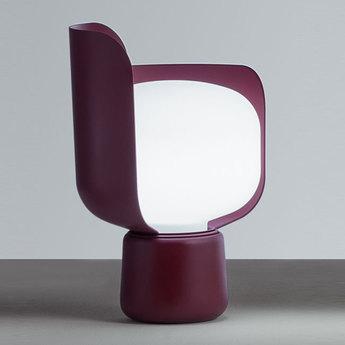 Lampe a poser blom violet o15cm h24cm fontana arte normal
