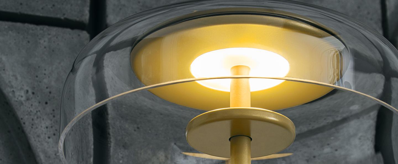 Lampe a poser blossi or transparent o23cm h44cm nuura normal