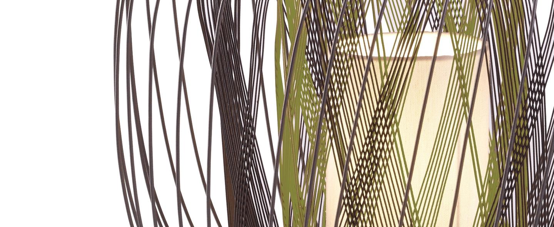 Lampe a poser bodyless vert h33 9cm forestier normal