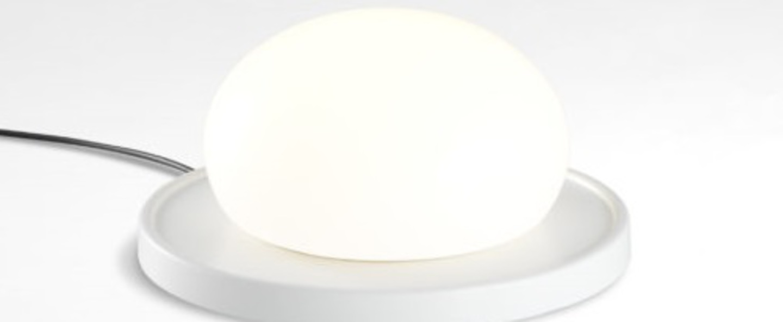 Lampe a poser bolita blanc led 2700k 731lm o18cm h9cm marset normal
