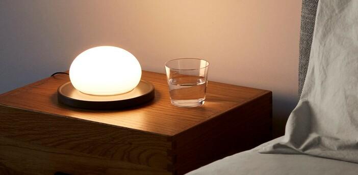 Lampe a poser bolita gris led 2700k 731lm o18cm h9cm marset normal