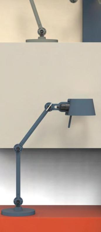 Lampe a poser bolt bleu 0l57cm h29cm tonone normal
