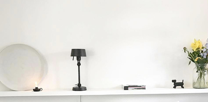 Lampe a poser bolt noir 0o22cm h39cm tonone normal