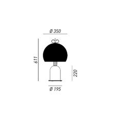 Bon ton cristina celestino lampe a poser table lamp  torremato n4g3eo  design signed 52337 thumb