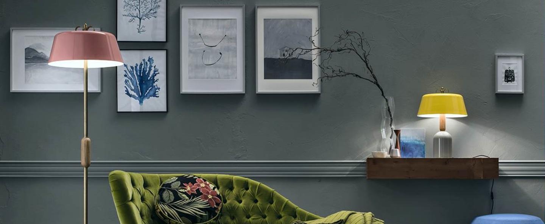Lampe a poser bon ton gris o40cm h57 1cm torremato normal