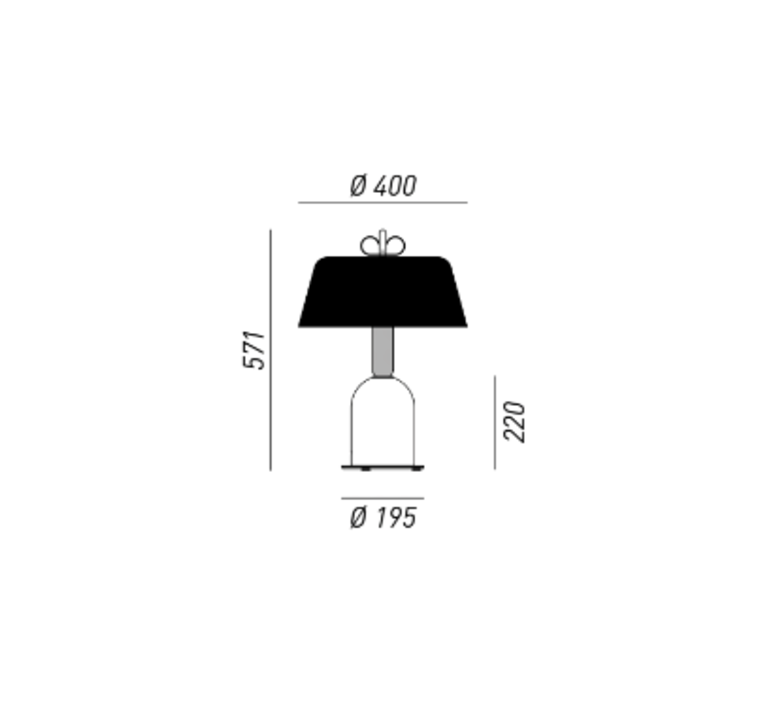 Bon ton cristina celestino lampe a poser table lamp  torremato n6d3eo  design signed 52350 product