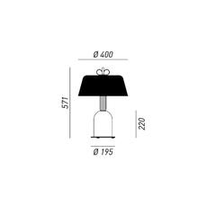 Bon ton cristina celestino lampe a poser table lamp  torremato n6d3eo  design signed 52350 thumb
