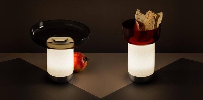 Lampe a poser bonta rouge led 2700k 242lm o18cm h12 2cm artemide normal