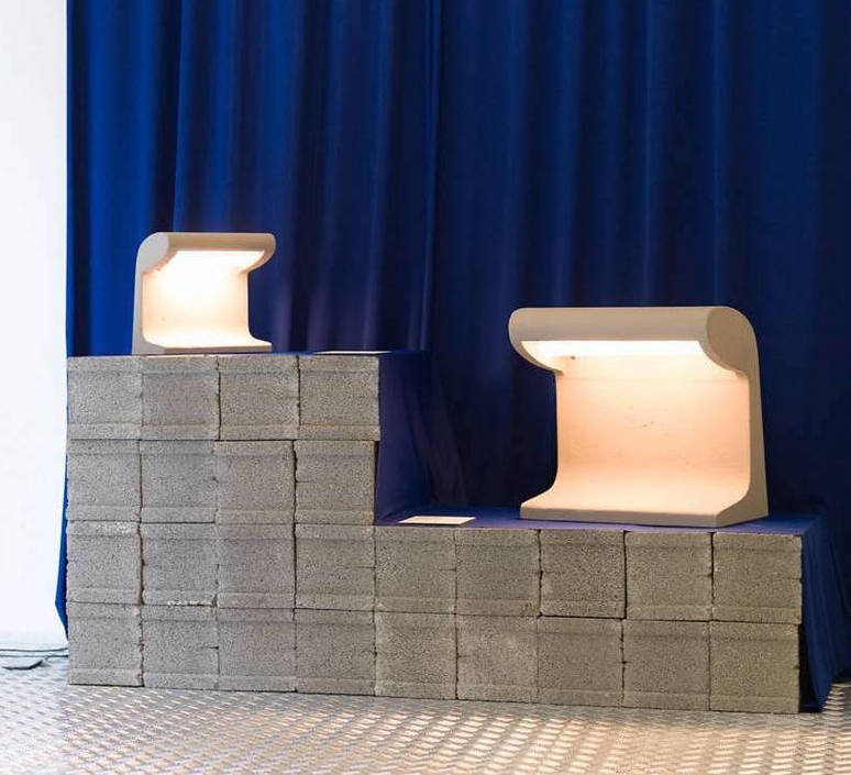 Borne beton mini charles le corbusier lampe a poser table lamp  nemo lighting bbp ldw 21  design signed 58089 product