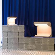 Borne beton mini charles le corbusier lampe a poser table lamp  nemo lighting bbp ldw 21  design signed 58089 thumb