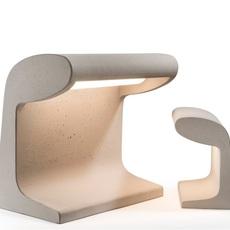 Borne beton mini charles le corbusier lampe a poser table lamp  nemo lighting bbp ldw 21  design signed 58091 thumb