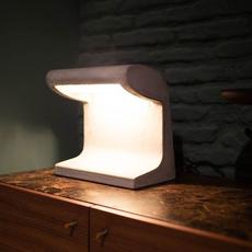 Borne beton mini charles le corbusier lampe a poser table lamp  nemo lighting bbp ldw 21  design signed 61478 thumb