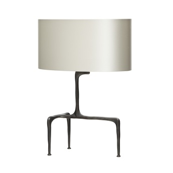 Lampe a poser braque gris colombe l40cm h53 5cm cto lighting normal