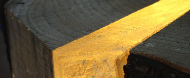 Lampe a poser brecce chene h50cm marco stefanelli normal