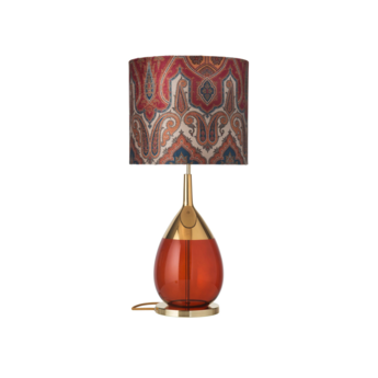 Lampe a poser brocade rouge o35cm h82cm ebb and flow normal