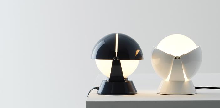 Lampe a poser buonanotte bleu o17 6cm h19 3cm stilnovo normal