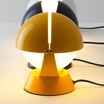 Lampe a poser buonanotte jaune o17 6cm h19 3cm stilnovo normal