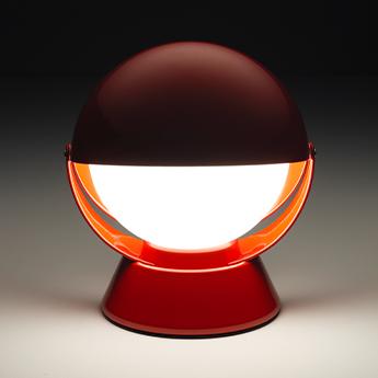 Lampe a poser buonanotte rouge o17 6cm h19 3cm stilnovo normal