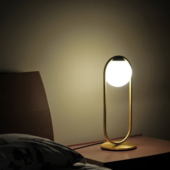 Lampe a poser c ball t laiton o19cm h50cm b lux normal