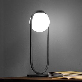 Lampe a poser c ball t noir o19cm h50cm b lux normal