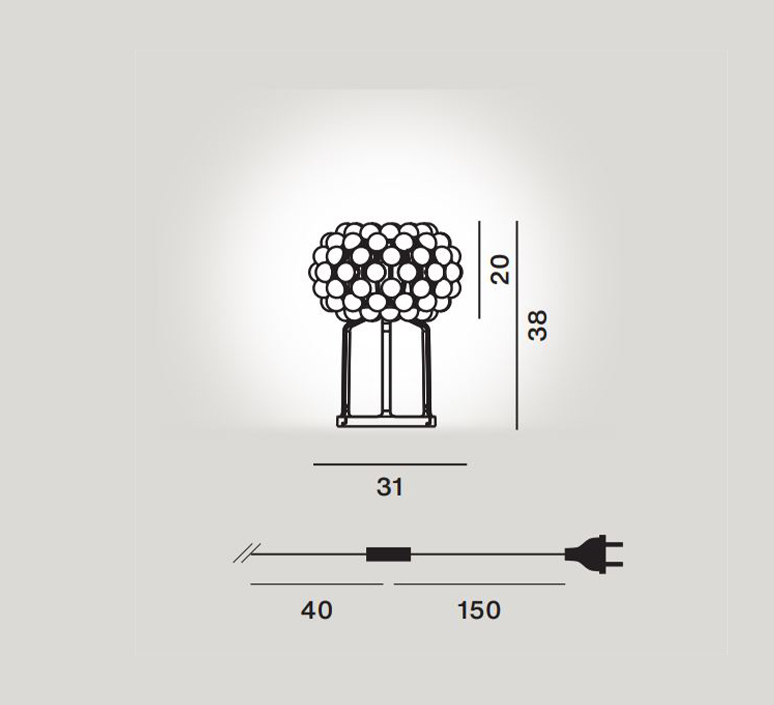 Caboche plus patricia urquiola lampe a poser table lamp  foscarini 311021 16  design signed nedgis 109758 product