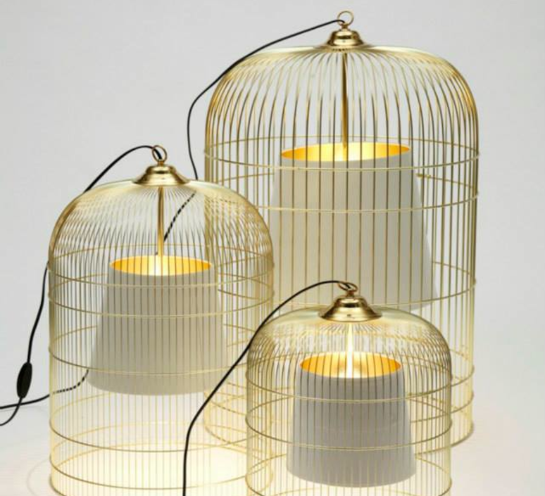 table lamp cage sunset brass white h55cm 39cm ascete nedgis lighting. Black Bedroom Furniture Sets. Home Design Ideas